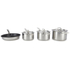Le Creuset 3-Ply Stainless Steel Non-Stick 4 Piece Cookware Set: Image 1