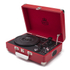 GPO Retro Attache Briefcase Style Three-Speed Portable Vinyl Turntable with Free USB Stick and Built-In Speakers - Red: Image 1