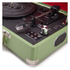 GPO Retro Attache Briefcase Style Three-Speed Portable Vinyl Turntable with Free USB Stick and Built-In Speakers - Apple Green: Image 3