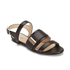 HUGO Women's Plenn Triple Strap Leather Sandals - Black: Image 5
