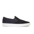 HUGO Men's Caslip Slip On Leather Trainers - Black: Image 1