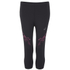 Asics Women's Stripe Running 3/4 Tights - Performance Black/Pink Glow: Image 1
