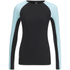 Skins A200 Womens Thermal Long Sleeve Compression Round Neck Top - Black/Glacier: Image 1