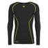 Skins A200 Mens Thermal Long Sleeve Compression Round Neck Top - Black/Yellow: Image 1