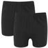 Wolsey Men's Twin Pack Jersey Boxer Shorts - Black: Image 1