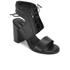 Senso Women's Valleri VI Leather Lace-up Heeled Sandals - Ebony: Image 5
