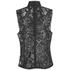 Ganni Women's Lace High Neck Blouse - Black: Image 2