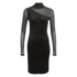 Ganni Women's Sheer Panel Dress - Black: Image 1