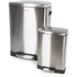 Morphy Richards 977100 Rectangular Pedal Bin Set - Stainless Steel - 50L & 12L: Image 1