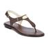 MICHAEL MICHAEL KORS Women's MK Plate Thong Flat Sandals - Brown: Image 5