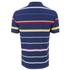 GANT Men's Multi Stripe Pique Polo Shirt - Persian Blue: Image 2