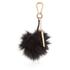 Dune Jaspers Faux Fur Pom Pom Keyring - Black: Image 2