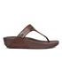 FitFlop Women's Aztek Chada Suede Toe Post Sandals - Chocolate: Image 1
