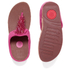 FitFlop Women's Cha Cha Leather/Suede Tassel Toe Post Sandals - Bubblegum: Image 5