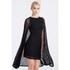 Lavish Alice Women's Lace Cape Mini Shift Dress - Black: Image 2