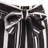 Lavish Alice Women's Stripe Tie Side Shorts - Black/Cream/Burgundy: Image 5
