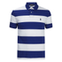 Polo Ralph Lauren Men's Short Sleeve Slim Fit Striped Polo Shirt - Royal/White: Image 1