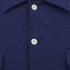GANT Rugger Men's Slub Flannel Army Long Sleeve Shirt - Thunder Blue: Image 3