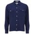 GANT Rugger Men's Slub Flannel Army Long Sleeve Shirt - Thunder Blue: Image 1