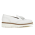 Grenson Women's Kat Leather Tassel Loafers - White: Image 1
