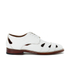Grenson Women's Wilma Grain Leather Flats - White: Image 1