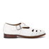 Grenson Women's Briony Grain Leather Cut-Out Buckle Flats - White: Image 1
