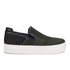 Ash Women's Jeday Knit Slip-on Trainers - Army/Black: Image 1