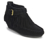 Ash Women's Spot ATS Suede Fringed Wedged Ankle Boots - Black: Image 4