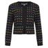 Diane von Furstenberg Women's Alberta Jacket - Black/Pop Violet Multi: Image 1