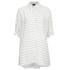 VILA Women's Very Short Sleeve Stripe Shirt - Snow White: Image 1