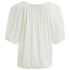 VILA Women's Licia Short Sleeve Blouse with Tie Detail - Snow White: Image 2