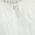 VILA Women's Licia Short Sleeve Blouse with Tie Detail - Snow White: Image 3