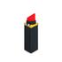 Lulu Guinness Women's Lipstick Iphone 6 Case - Black: Image 1