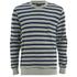 OBEY Clothing Men's Cypress Park Crew Sweatshirt - Navy/Green: Image 1