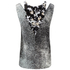 KENZO Women's Sand Silk Sleeveless Top - Antracite: Image 3