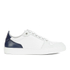 AMI Men's Low Top Trainers - White/ Navy: Image 1