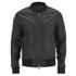 AMI Men's Zipped Teddy Jacket - Black: Image 1