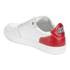 AMI Men's Low Top Trainers - White/ Red: Image 5