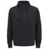 AMI Men's Hooded Half Zipped Jacket - Black: Image 1
