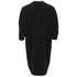 Alexander Wang Women's Shirt Tail Mini Dress with Black Slit Ties - Onyx: Image 2