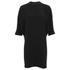 Alexander Wang Women's Shirt Tail Mini Dress with Black Slit Ties - Onyx: Image 1