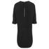 Alexander Wang Women's Shirt Tail Mini Dress with Flared A-Line Hem - Onyx: Image 2