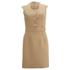 Carven Women's Poppers Shift Dress - Beige: Image 1
