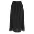 Carven Women's Laser Cut Long Skirt - Black: Image 1