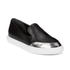 KENZO Women's K-Point Leather Slip-On Low Top Trainers - Black: Image 4