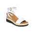 See by Chloe Women's Leather Wedged Sandals - White: Image 5