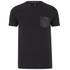 Luke Men's Chump Patch Pocket Detail Crew Neck T-Shirt - Jet Black: Image 1