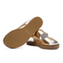 Paul Smith Shoes Women's Ilse Leather Double Strap Sandals - Vanilla Rodeo Metallic: Image 6