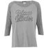 Maison Scotch Women's 3/4 Sleeve Logo T-Shirt with Logo Burnout Artwork - Grey: Image 1