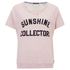 Maison Scotch Women's Short Sleeve Sweatshirt with Text Print - Pink: Image 1